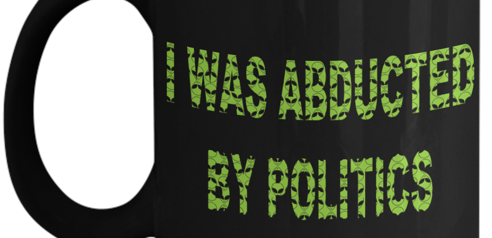 I was abducted by politics mug
