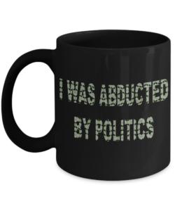 I was abducted grey mug