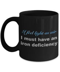 I feel light as air mug